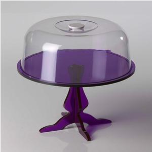 Alzata con campana Piccola Like Water Ø 28xh15cm - 4 mm di spessore colore viola