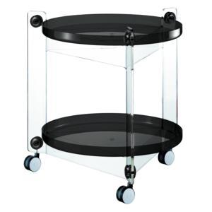 Carrello Portavivande diametro 66xh63.5 cm Massoni Con Ruote Guzzini Nero
