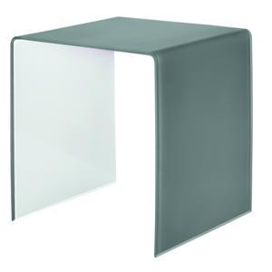 Tavolino medio 45x40xh45 cm Casa Guzzini in metacrilato bicolore alto spessore Grigio Cielo
