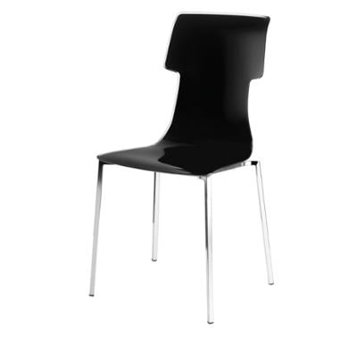 Sedia My Chair 53.5x41xh89.5 cm Guzzini struttura inox Lucido Seduta colore Trasparente