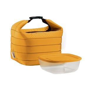 Borsa termica con contenitore termico Handy Thermal 19.5x25xh19,5 cm giallo ocra