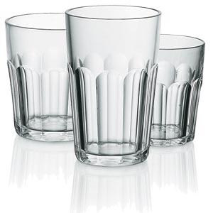 Bicchieri da bibita confezione 6 pezzi Ø9xh12,5 cm - 420 cc in PCTA Impilabili trasparenti