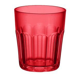 Bicchieri da acqua Molati Bassi Ø8.5xh10 cm - 350 cc in SAN confezione 6 pezzi Rosso Trasparente