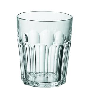 Bicchieri da acqua Molati Bassi Ø8.5xh10 cm - 350 cc in SAN confezione 6 pezzi Trasparente