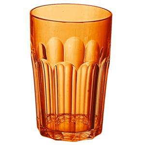 Bicchieri da Bibita Molati Alti Tall Tumbler Ø8xh12,5 cm - 420 cc in SAN confezione 6 pezzi Arancio Trasparente