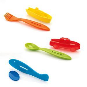 Set 3 posatine Traffic BIMBI set 3 pezzi cucchiaino, forchetta, coltello