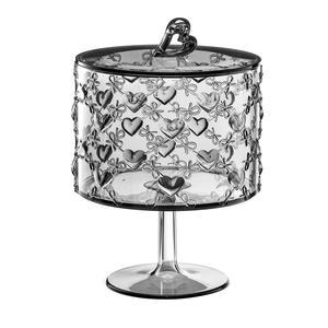 Contenitore con alzata portaoggetti Piccola con coperchio Ø11xh16,7 cm Love Guzzini colore grigio