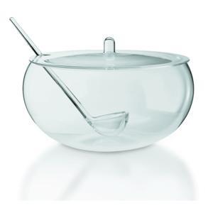 Bowl con coperchio e mestolo Ø32 x h 22,5 cm - 1000 cc in PMMA trasparente