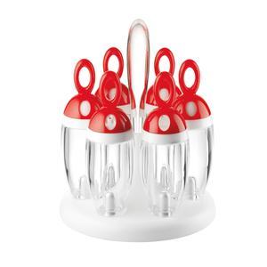 Porta Spezie girevole Rosso diametro 16.5xh21.5 cm Design: Angeletti Ruzza rosso
