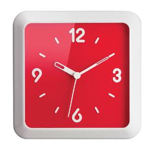 Orologio Times Square 36x36xh5 cm Design:Ora Ito Rosso