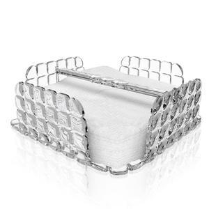 Portatovaglioli Orizzontale Tiffany in materiale acrilico 20x20xh7,3 cm trasparente