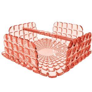 Portatovaglioli Orizzontale Tiffany in materiale acrilico 20x20xh7,3 cm corallo