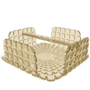 Portatovaglioli Orizzontale Tiffany in materiale acrilico 20x20xh7,3 cm sabbia