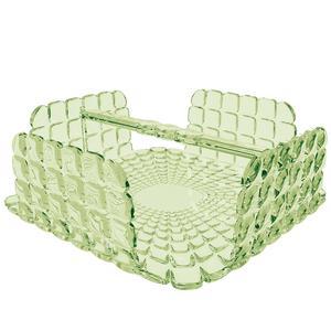 Portatovaglioli Orizzontale Tiffany in materiale acrilico 20x20xh7,3 cm verde menta