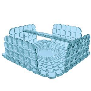 Portatovaglioli Orizzontale Tiffany in materiale acrilico 20x20xh7,3 cm azzurro mare