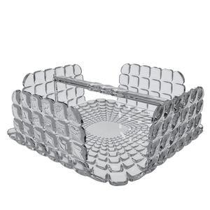 Portatovaglioli Orizzontale Tiffany in materiale acrilico 20x20xh7,3 cm grigio cielo