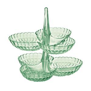 Set 2 Antipastiere in SMMA 27x25xh25,5 cm Colore Tiffany Verde Menta