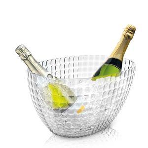 Secchiello Champagne Rifrescatore Tiffany 28x17,5xh19 cm in SMMA Metacrilato Trasparente