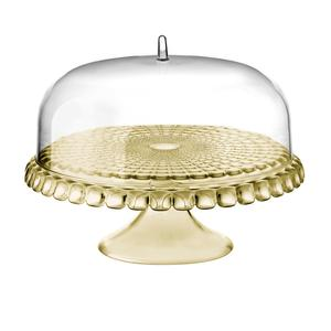 Alzata, Tortiera con campana diametro Ø 36xh28cm Tiffany Sabbia