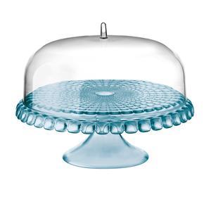 Alzata, Tortiera con campana diametro Ø 36xh28cm Tiffany Azzurro Mare