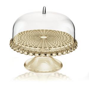 Alzata, Tortiera con campana Piccola diametro Ø 30xh27cm Tiffany Sabbia