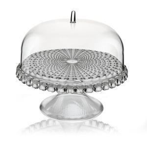 Alzata, Tortiera con campana Piccola diametro Ø 30xh27cm Tiffany Grigio Cielo