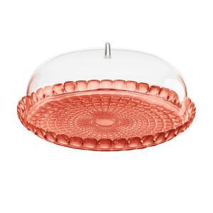 Tortiera con campana Rotonda Ø 36xh14 cm BPA FREE Colore Corallo