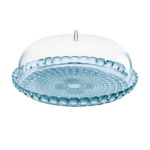Tortiera con campana Rotonda Ø 36xh14 cm BPA FREE Colore Azzurro Mare