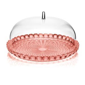 Tortiera con campana Piccola Rotonda Ø 30xh16 cm BPA FREE Colore corallo