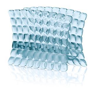 Portatovaglioli in materiale acrilico 15,2x7,6xh11 cm Azzurro mare