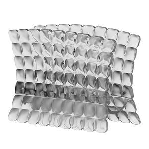 Portatovaglioli in materiale acrilico 15,2x7,6xh11 cm Grigio cielo