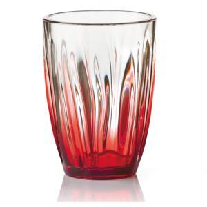 Bicchiere da Bibita IRIS Ø9.3xh12.5 cm - 460cc pezzi Colore Rosso Trasparente Confezione 6 Pezzi
