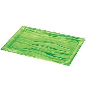 Vassoio rettangolare L 46x32x3 cm AQUA Verde Acido Opaco