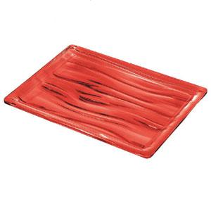 Vassoio rettangolare M 32x23x2.8 cm AQUA Rosso Trasparente