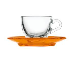 Tazzina da caffé 12xh6,3 cm - 90 cc con piattino in san Arancio