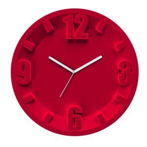 Orologio Guzzini 3-6-9-12 diametro 30 Rosso