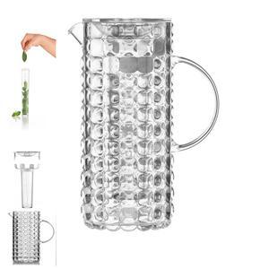 Caraffa con coperchio e bulbo refrigerante 11.5x18.5xh25.5 cm- 1750 cc TIFFANY trasparente
