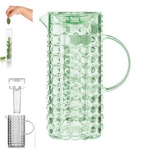 Caraffa con coperchio e bulbo refrigerante 11.5x18.5xh25.5 cm- 1750 cc TIFFANY Verde mela