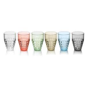 Bicchieri Alti TIFFANY diametro 9xh13 cm - 510 cc confezione da 6 pezzi Multicolor