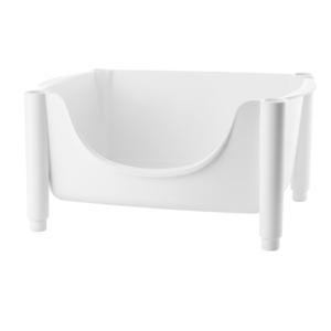 Carrello Hold & Roll cesta impilabile 44.5x30.5xh22 cm Guzzini Bianco