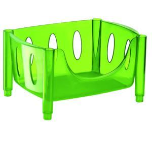 Carrello cesta impilabile 44.5x30.5xh22 cm Hold Roll Guzzini Verde