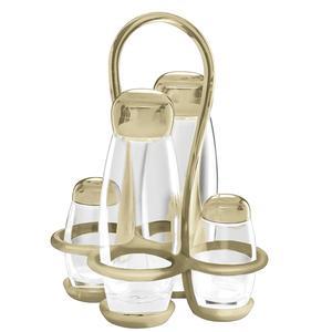 Menage colorato 17x15xxh22.5 - 180 cc - 52 cc Gocce contenitori in vetro cristallino Sabbia