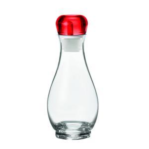 Oliera Acetiera Rosso Ø9xh22 cm - 500 cc Gocce ampolla ergononica con dosatore taglia e raccogli goccia