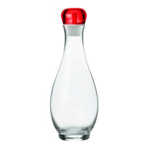 Oliera Acetiera Rosso Ø10.7xh29 cm - 1000 cc Gocce ampolla ergononica con dosatore taglia e raccogli goccia