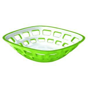 Cestino Pane multiuso Bicolore 24x24xh6.5 cm Vintage Verde