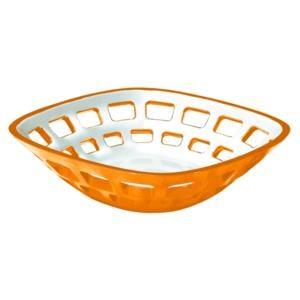 Cestino Pane multiuso Bicolore 24x24xh6.5 cm Vintage Arancio
