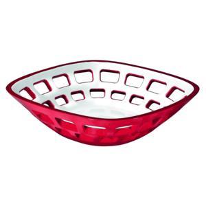 Cestino Pane multiuso Bicolore 24x24xh6.5 cm Vintage Rosso