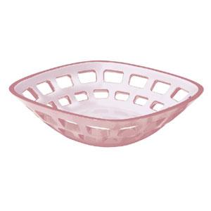 Cestino Pane multiuso Bicolore 24x24xh6.5 cm Glam Rosa pastello