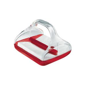 Portatovaglioli colorato 21.4x18.1xh15.2 cm Mimì Rosso Trasparente