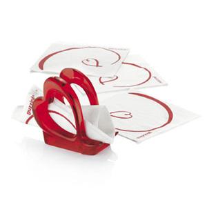 Love Porta tovaglioli 7x13xh12cm colore rosso
